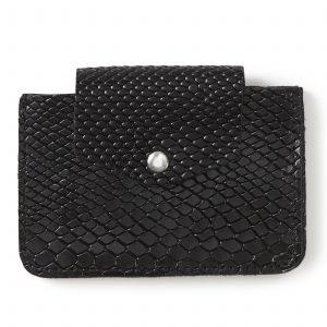 ארנק עור לכרטיסי אשראי - שחור מנוחש