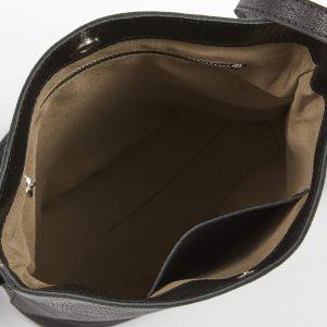 תיק צד מליסה באקט מעור בצבע שחור נחש