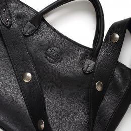 TES-Sarina black leather bag