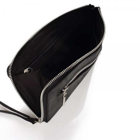 תיקי עור לנשים לנה שחור tesbags